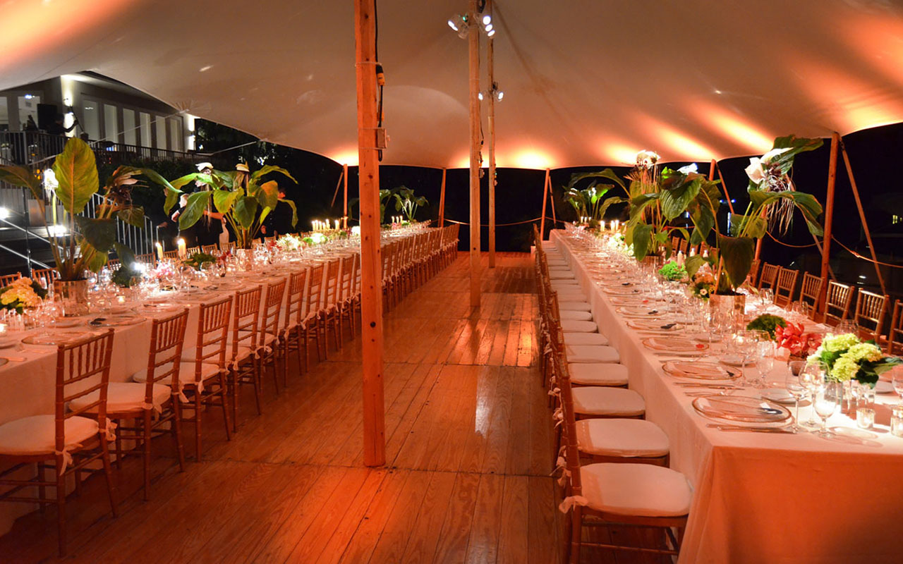 Sailcloth Tent with Pinewood Flooring, Birthday Celebration