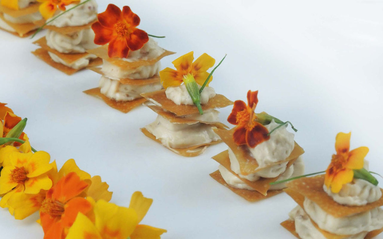 Anchovy Millefeuille, Micro Flowers